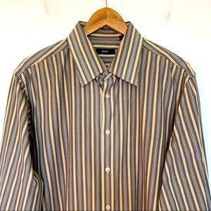 Boss Men Size 17 1/2 Dress Shirt Long Sleeve